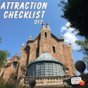 Haunted Mansion – Magic Kingdom – Walt Disney World – Attraction Checklist #017