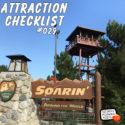 Soarin' Around The World – Disney California Adventure – Attraction Checklist #029